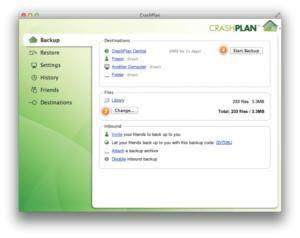 crashplan central backup