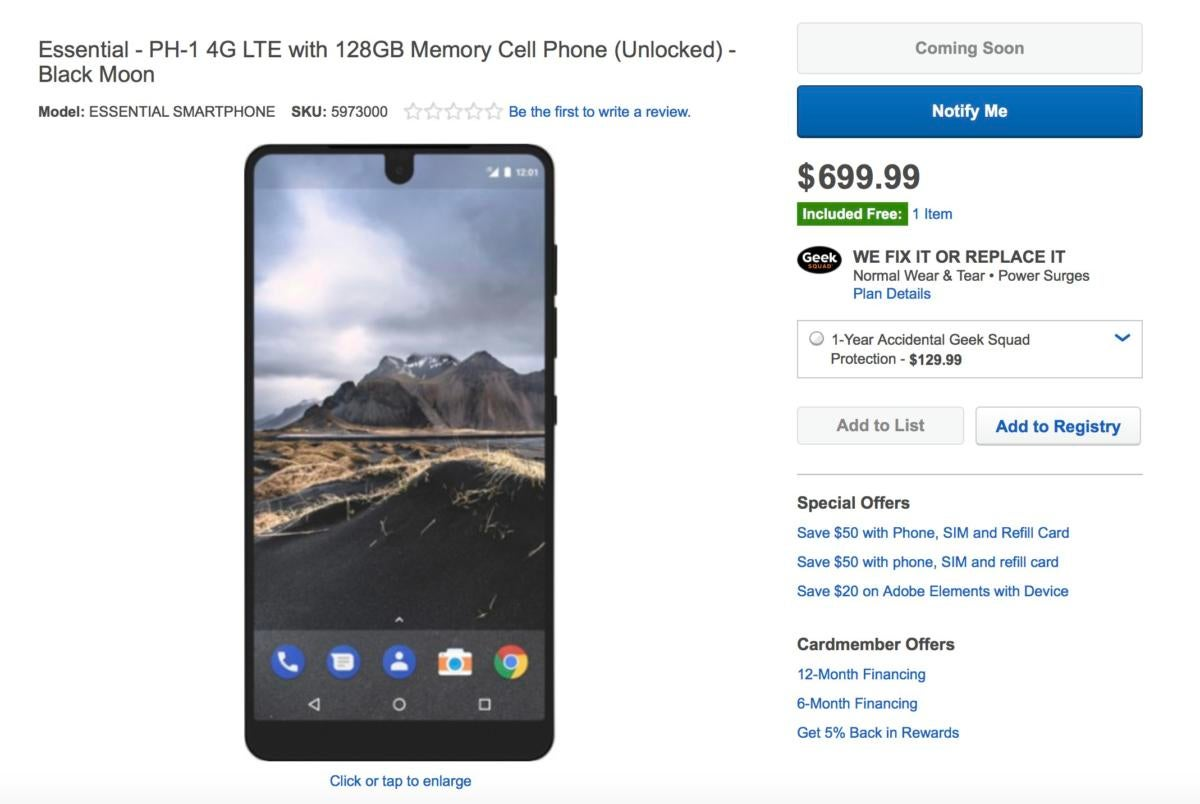 essential phone best buy