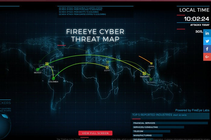 fireeye cyber attack maps