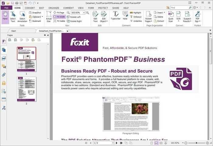 edit secured pdf foxit