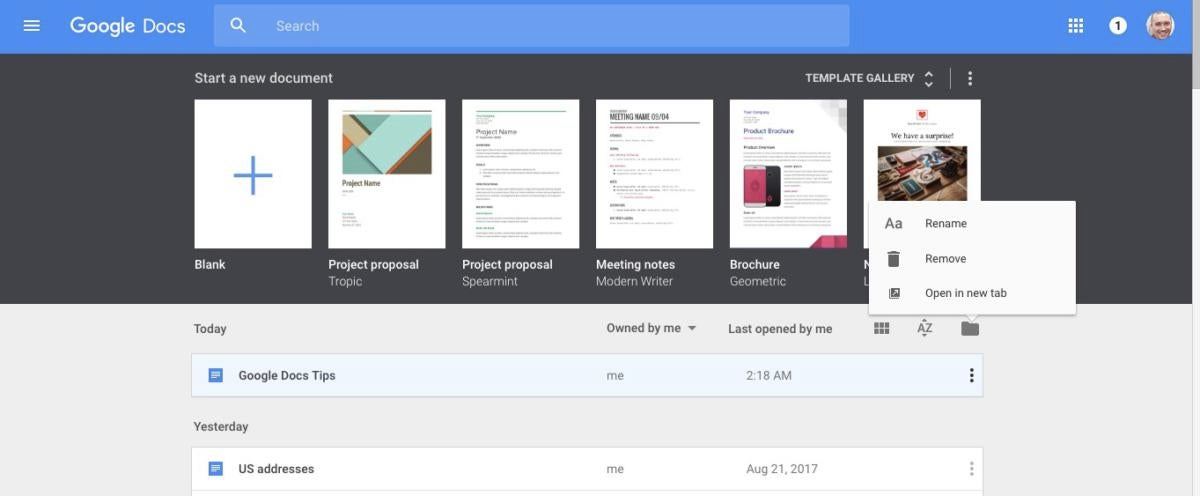 google docs tips open in new tab