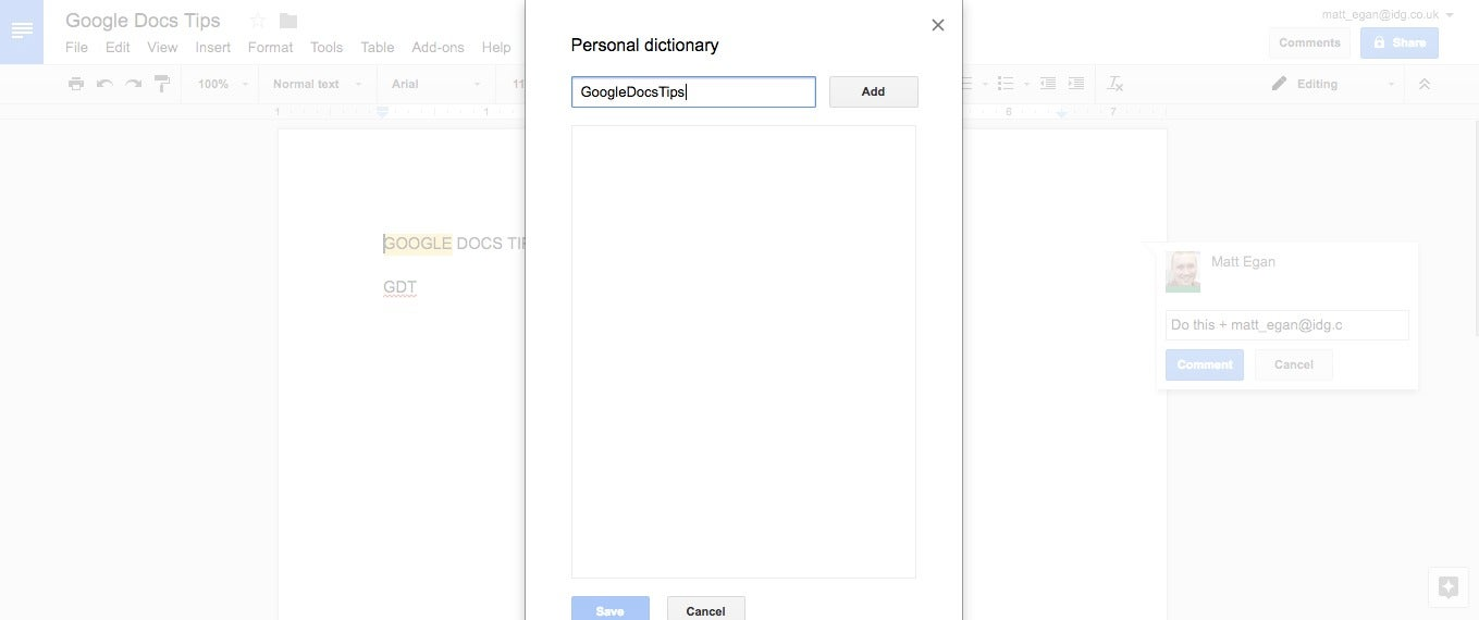 Google Docs Tips You Should Know Computerworld - Google docs for personal use