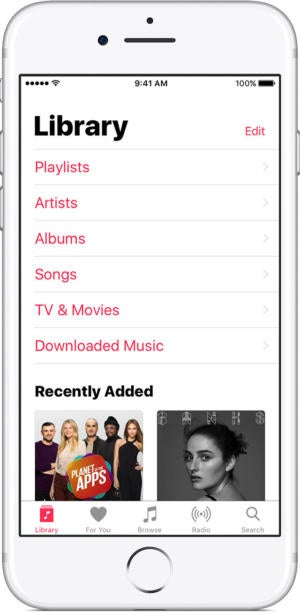 ios10 3 iphone7 apple music library