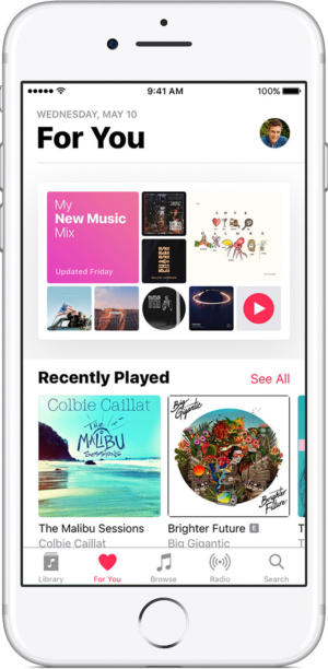ios10 iphone7 apple music for you