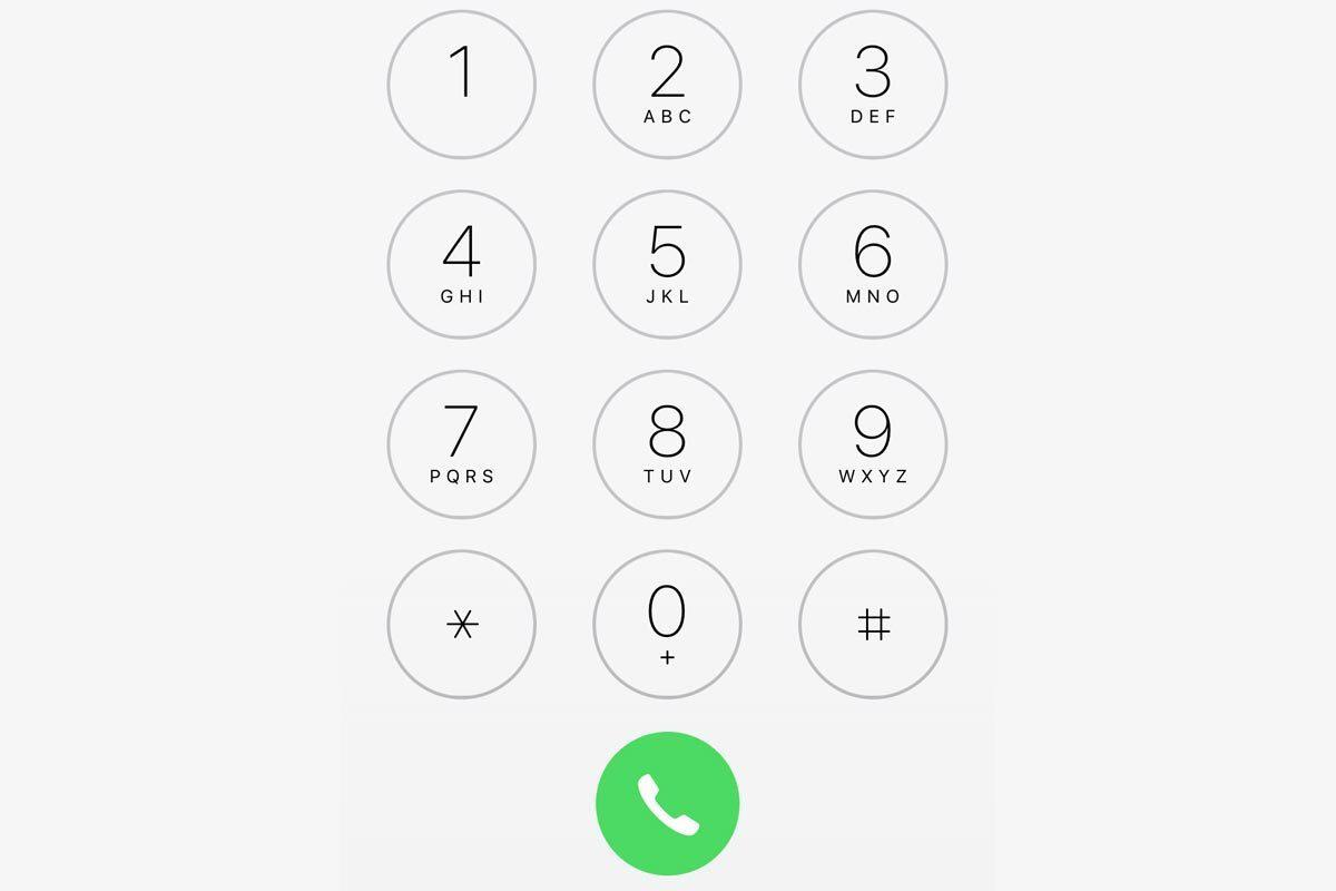 iphone ios10 phone keypad