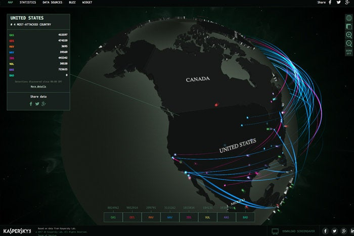 Real Time Internet Traffic Map.8 Top Cyber Attack Maps And How To Use Them Cso Online