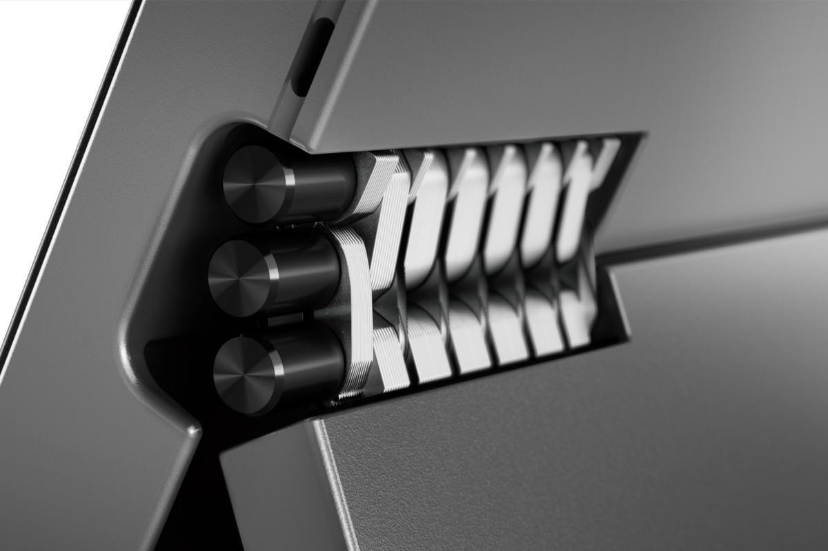 lenovo miix 520 closeup hinge iron grey