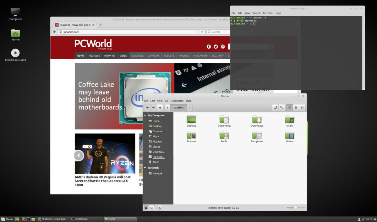 linux mint 18.2 sonya cinnamon desktop