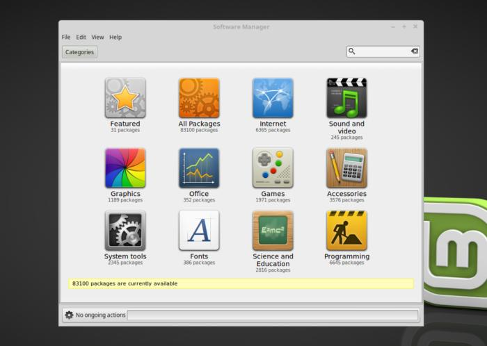 linux mint 18.2 sonya cinnamon software manager