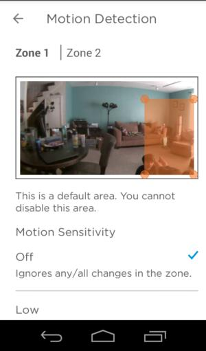 lyric motion detection zone