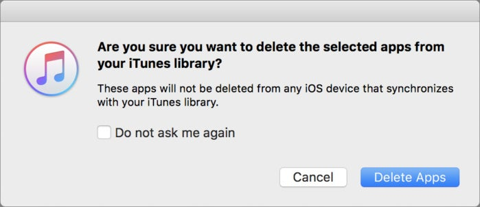 mac911 confirm delete itunes apps