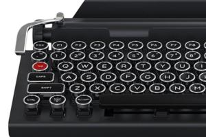 26% off Qwerkywriter BlueTooth Mechanical Keyboard with Integrated Tablet Stand - Deal Alert