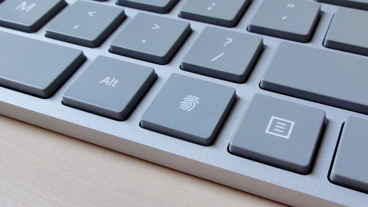 Microsoft Modern Keyboard fingerprint scanner