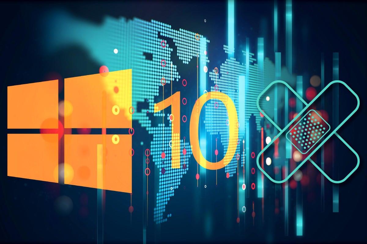 Microsoft Windows 10 logo bandage data map