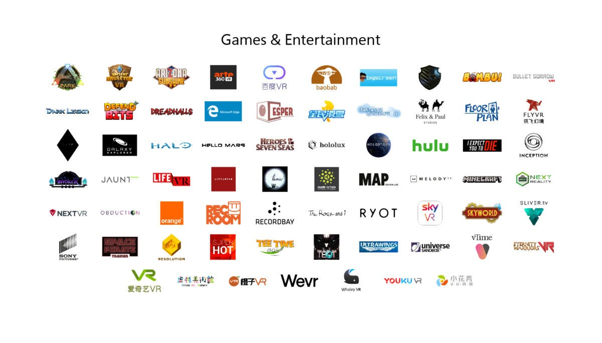 microsoft mixed reality content partners