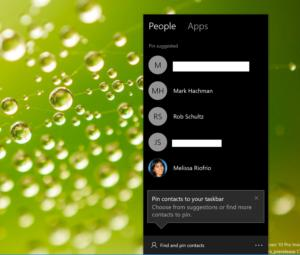 Microsoft Windows 10 my people selected people privacy