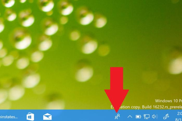 my people taskbar arrow