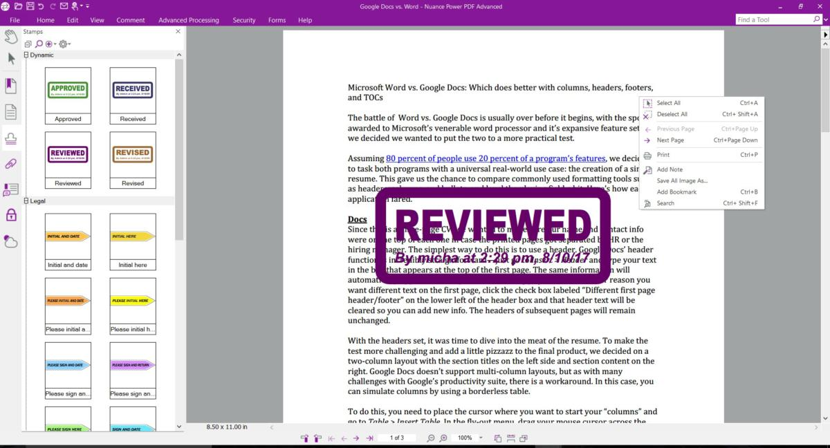 power pdf advanced reviewed