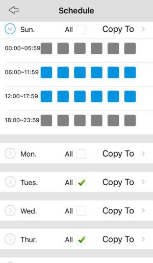 reolink app schedule