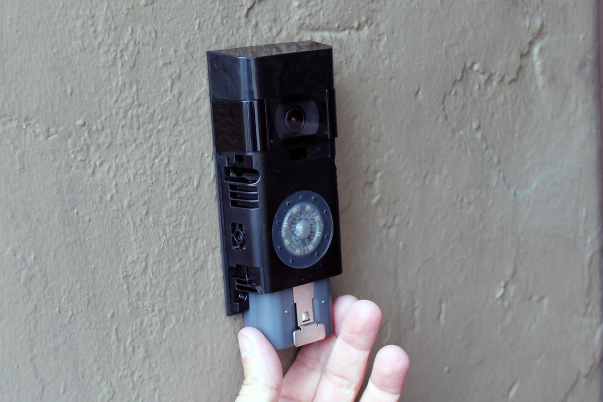 Remove Faceplate From The Ring Video Doorbell
