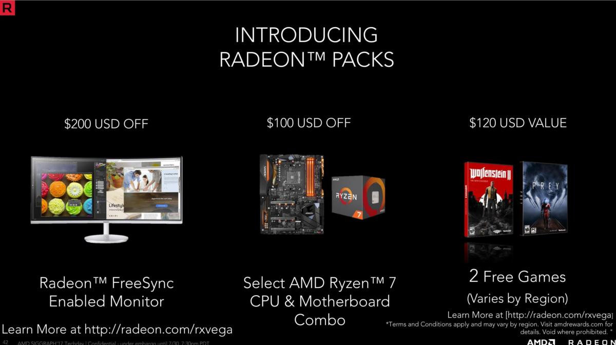rx vega radeon packs