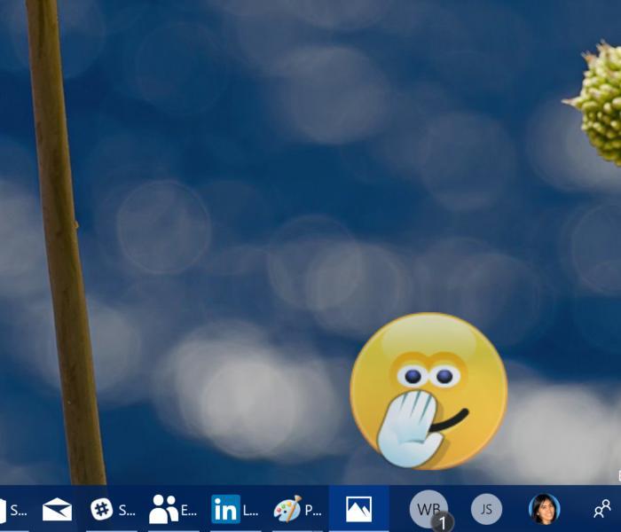 Microsoft Windows 10 My People shoulder tap