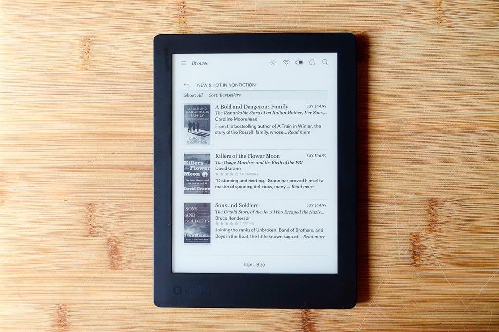 Kobo aura h20 edition 2 review a waterproof e reader for Housse kobo aura h2o edition 2