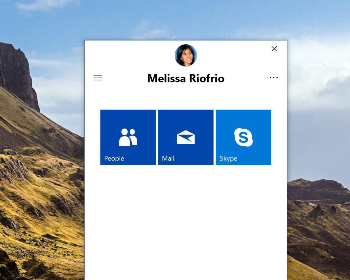 Windows 10 My People three options