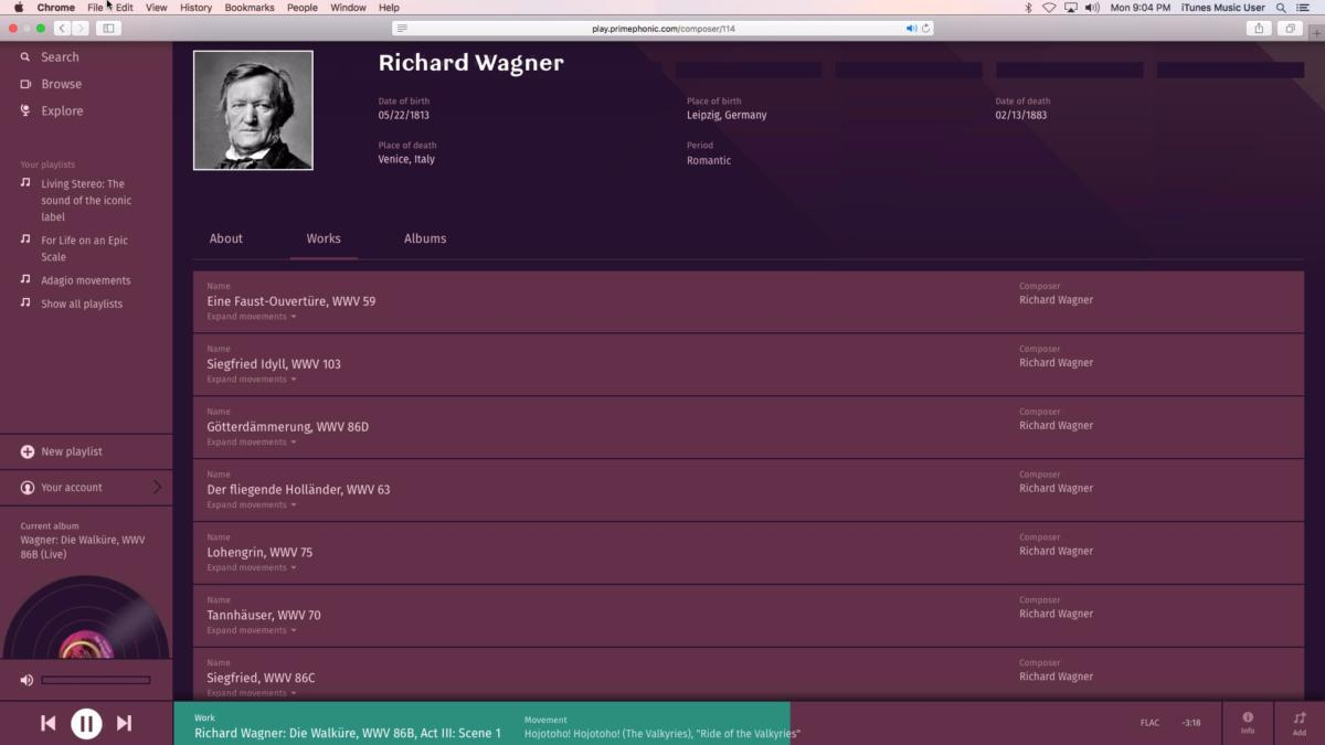 Works by Richard Wagner