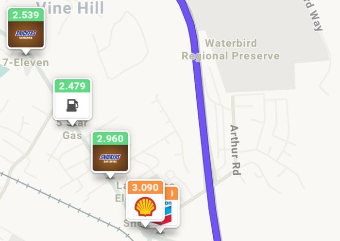 waze gas stations