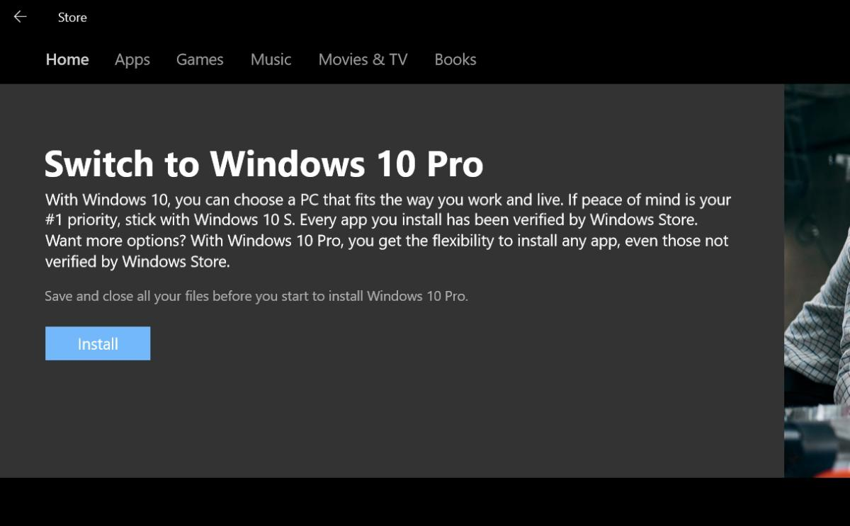 windows 10 s pro switch