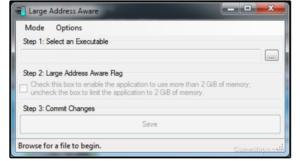 04 install the large address aware update to expand from 2 gb to 4gb