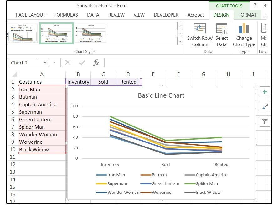 how to add markers to chart in excel