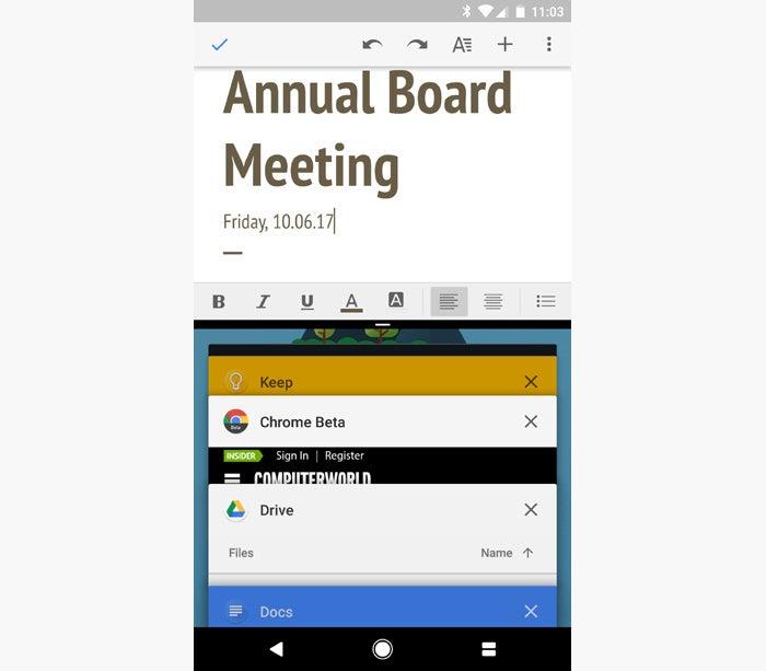 Atajos de Android: pantalla dividida