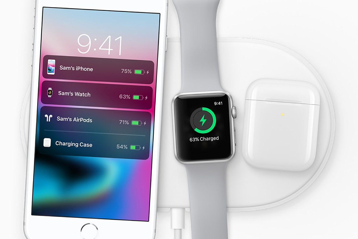 Apple iPhone 8, Apple Watch, AirPods  - wireless charging