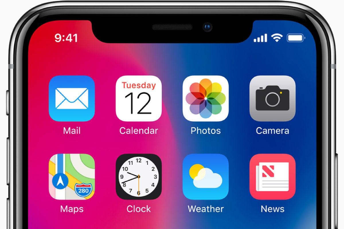 Apple iPhone X - home screen