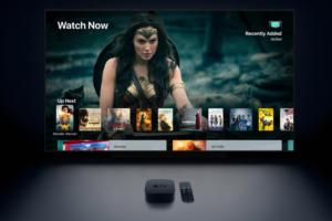 Apple TV 4K - display, remote