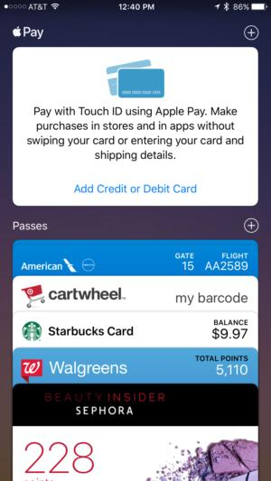 apple wallet add card