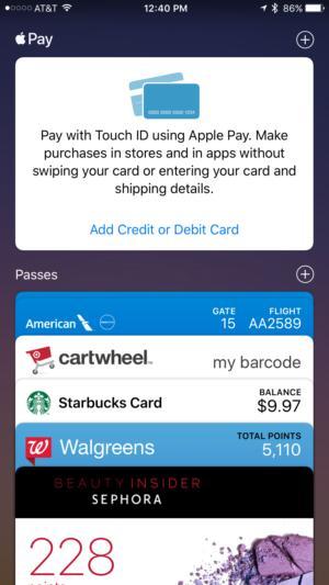 apple wallet add card