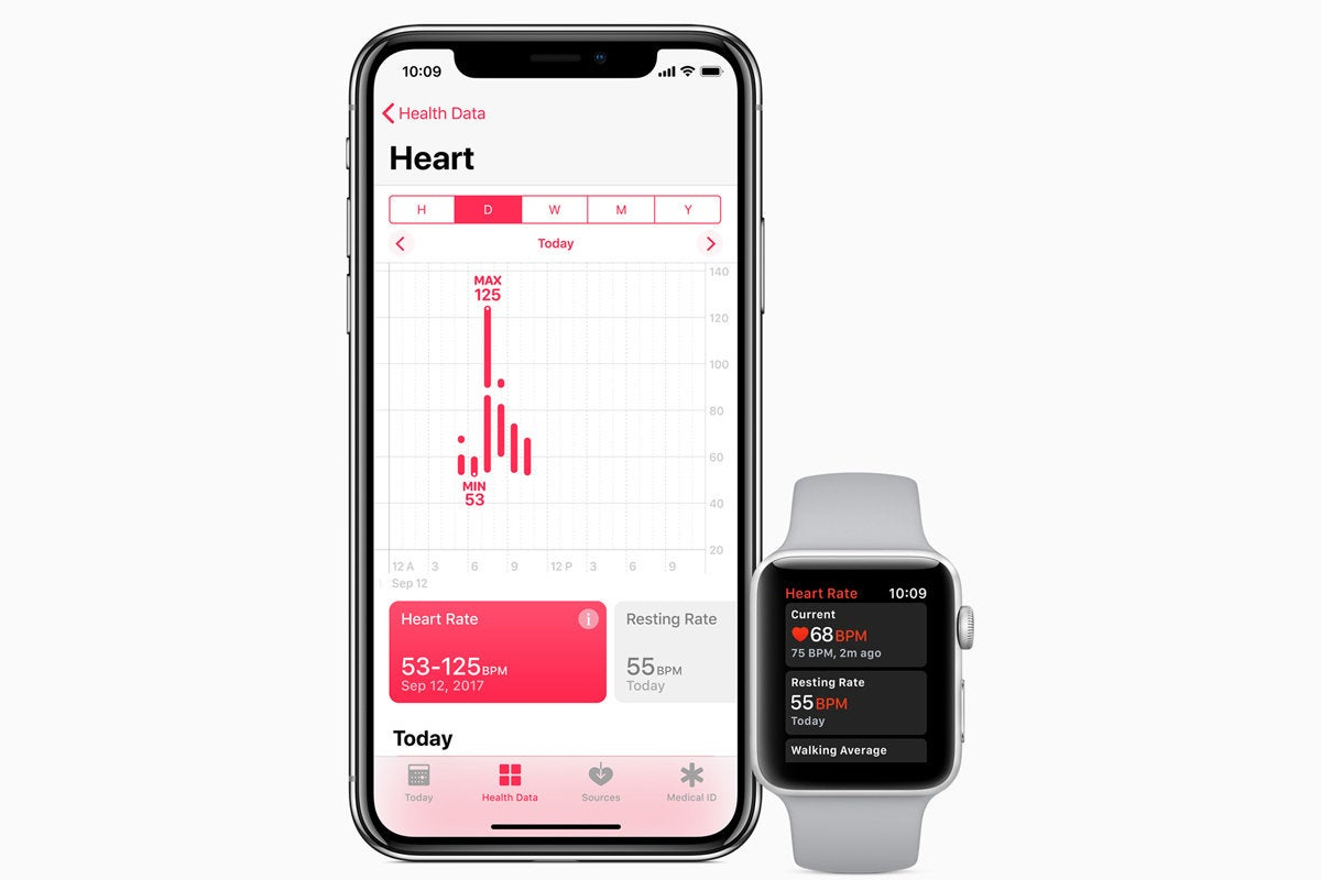 apple watch series 3 heartrate app