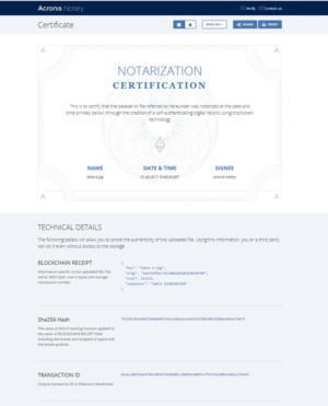 online backup software Acronis Notary certification