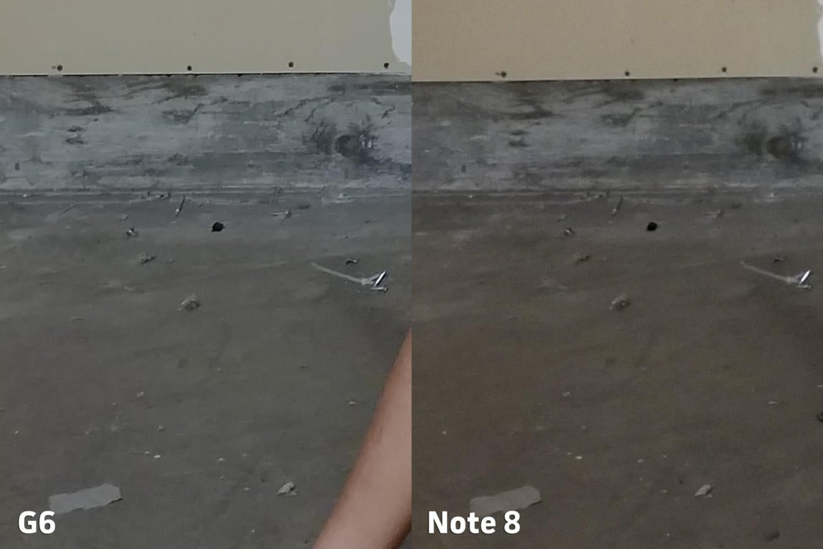 LG G6 vs Samsung Galaxy Note 8 camera clarity 3 punch in