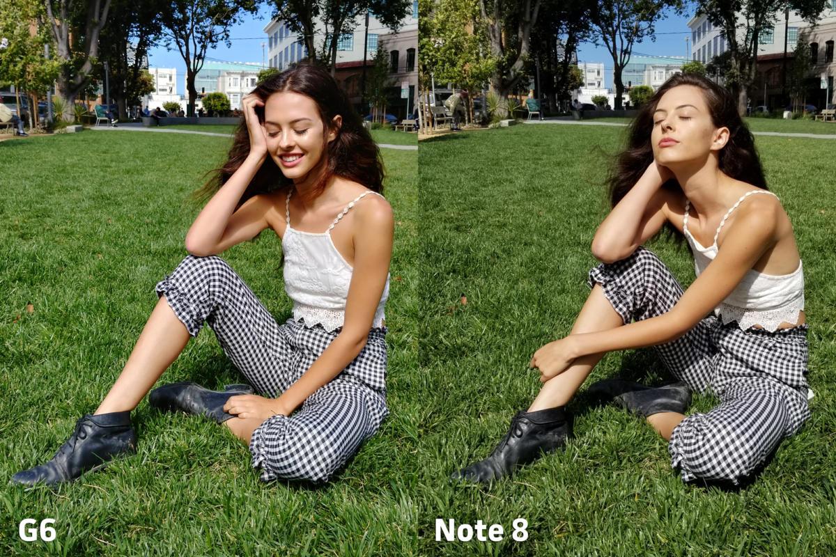 LG G6 vs Samsung Galaxy Note 8 camera color 3