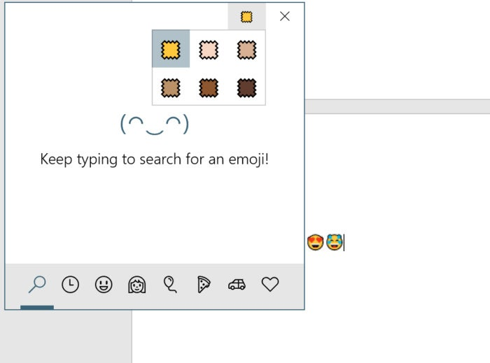 emoji skin tone WIndows 10