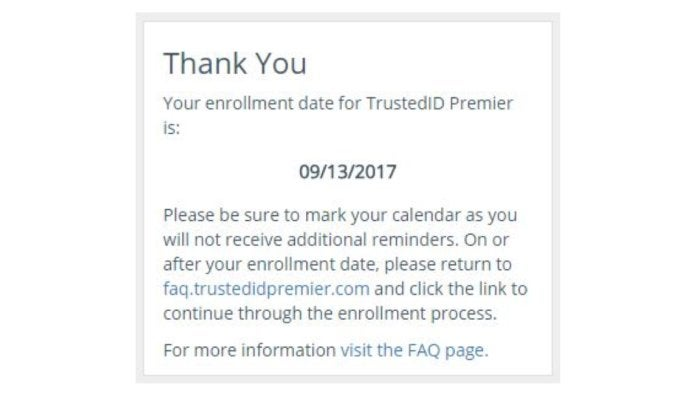equifax credit watch enrollment notice