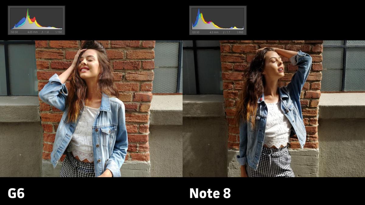 LG G6 vs Samsung Galaxy Note 8 camera exposure 2