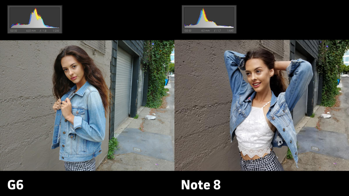 LG G6 vs Samsung Galaxy Note 8 camera exposure 3