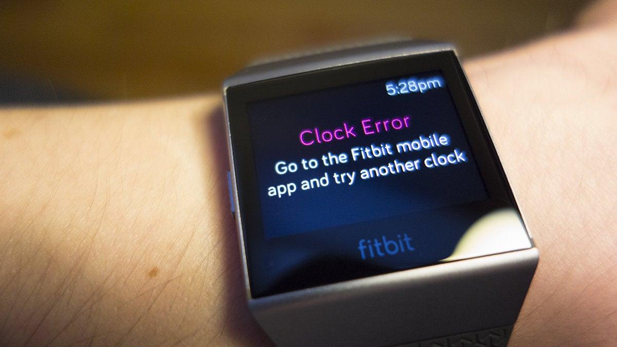 fitbit ionic clock error