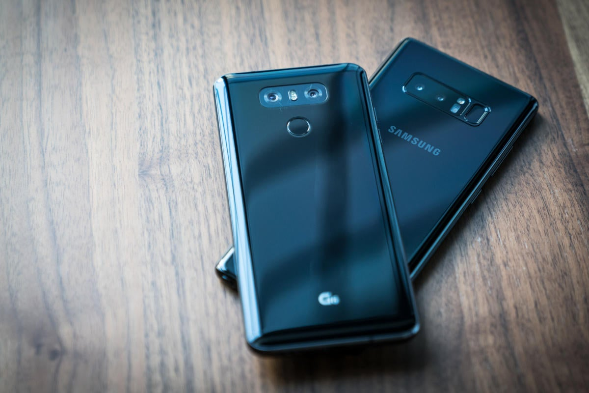 LG G6 and Samsung Galaxy Note 8
