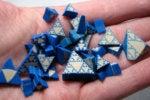 handful of plastic pieces